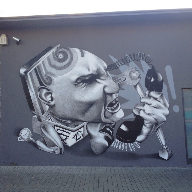 After Norway a few weeks ago, our friend Claudio Ethos has now reached Germany where he worked his magic on the streets of Dortmund and Koln.