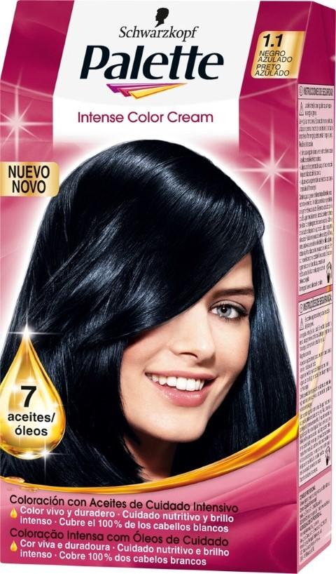 Color de cabello negro intenso
