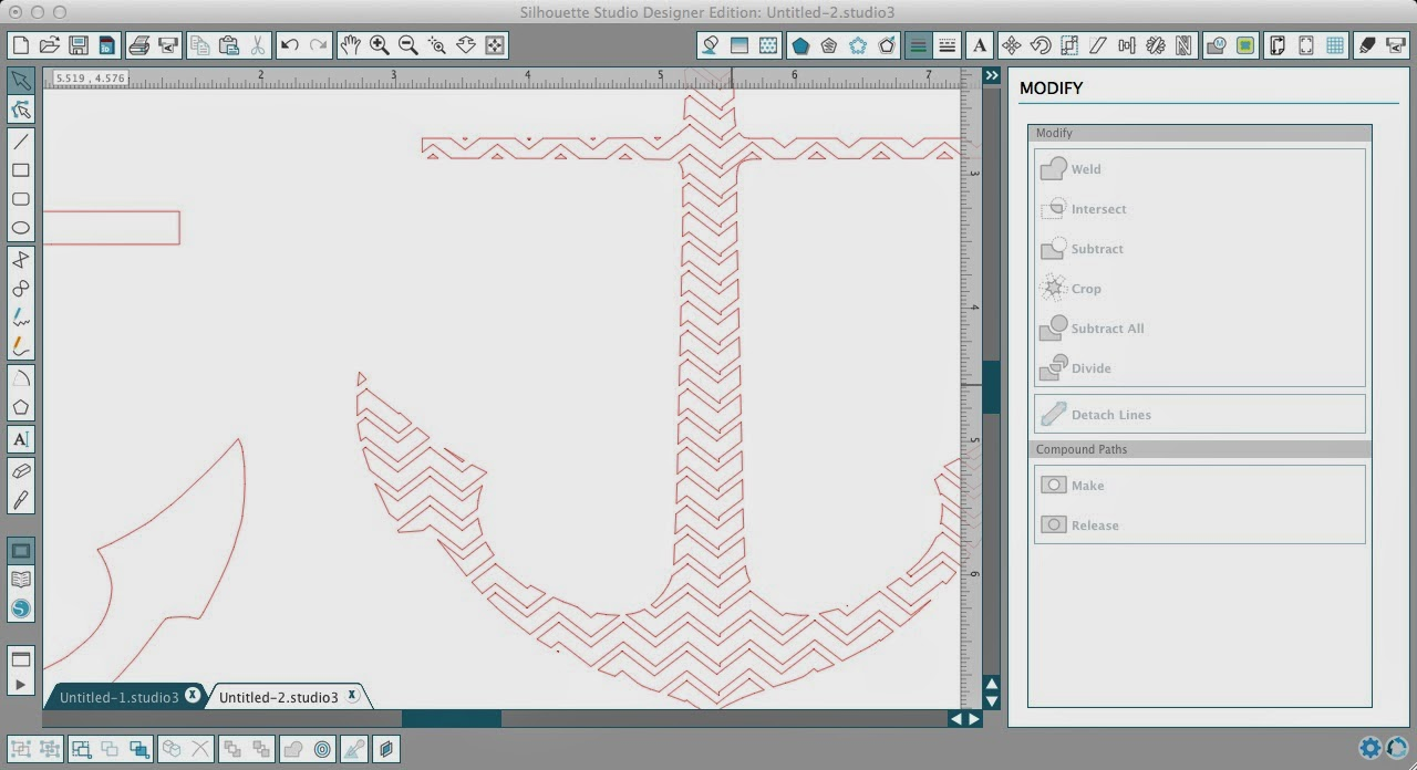 How to Fill a Silhouette Design or Text With a Cuttable Background (Free Studio Cut File), Silhouette Studio, anchor, chevron