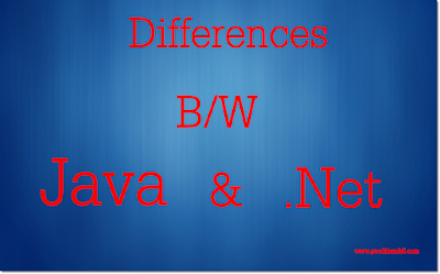 Difference Between Java and .Net
