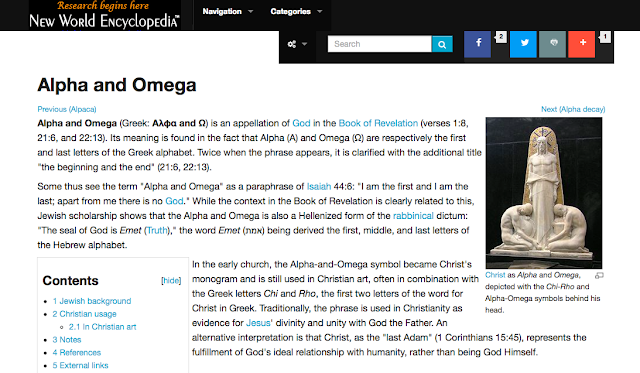 Alpha and Omega, http://www.newworldencyclopedia.org/entry/Alpha_and_Omega
