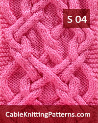 Cable Scarf Pattern 04 -Hodor Celtic Knot