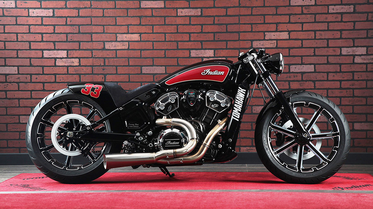 Tomahawk - V-Twin Garage Indian Scout | Return of the Cafe ...