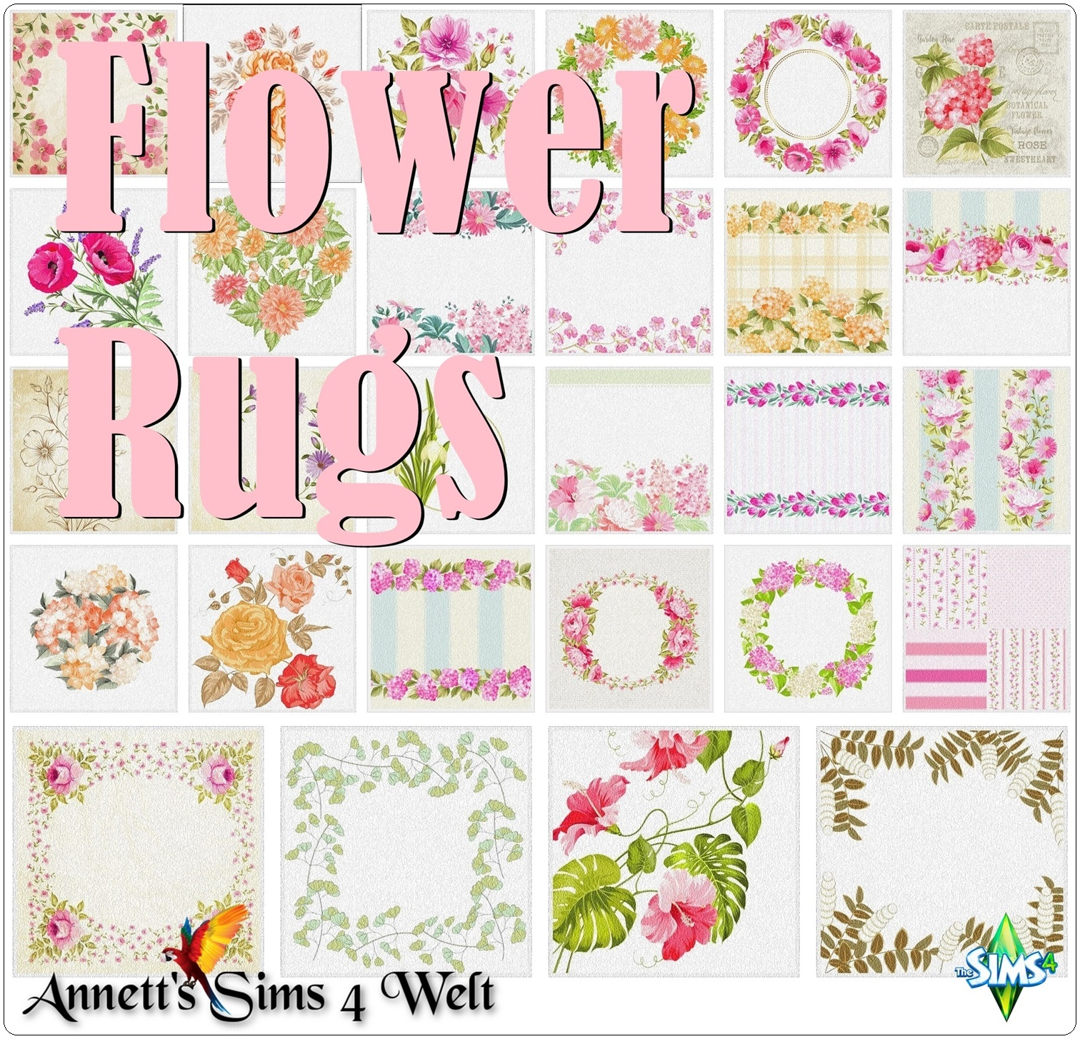 Sims 3 Teppiche Download Annett 39s Sims 4 Welt Flower Rugs
