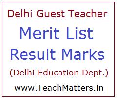 image : Delhi Guest Teacher Merit List 2021 Result & Cut off Marks @ TeachMatters