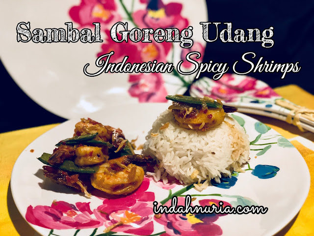 Sambal Goreng Udang - Indonesian spicy shrimps