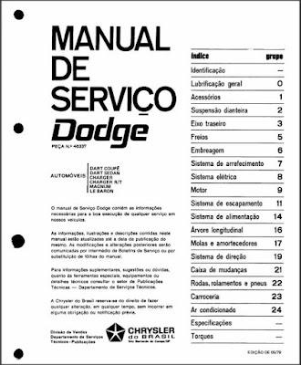 Manual de serviço Dodge