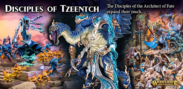 The Disciples of Tzeentch with the Lord of Change and a Start Collecting Tzeentch Box