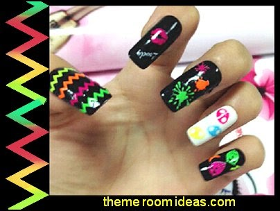 nail art design ideas - colorful nail art ideas