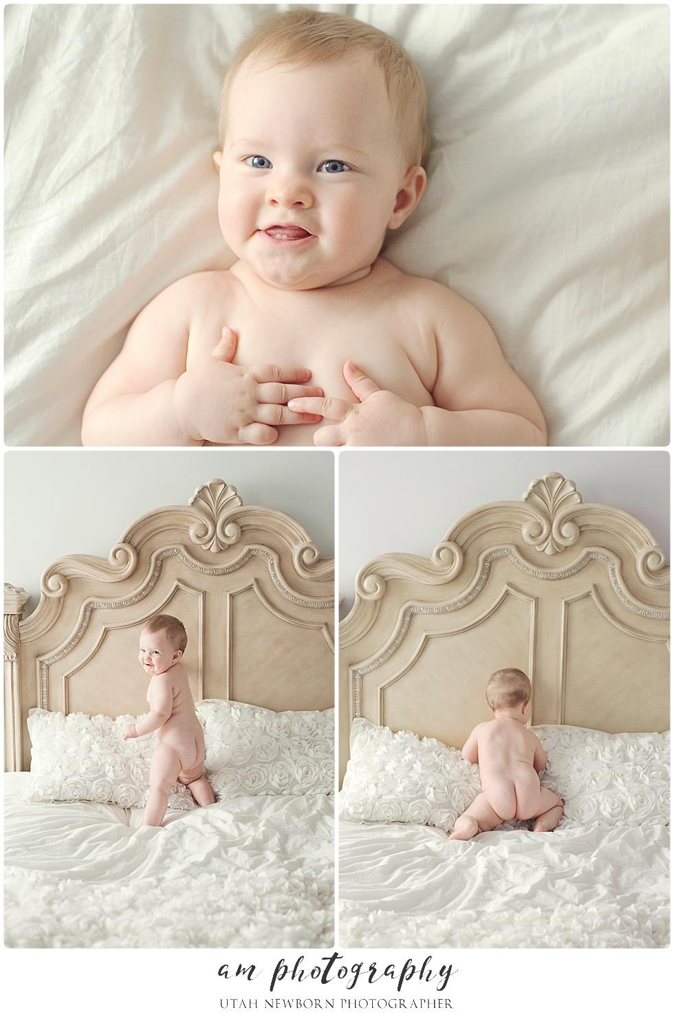 baby girl studio portraits in Utah