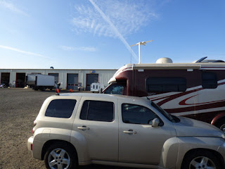 Camping overnight at McKay Truck and RV Center