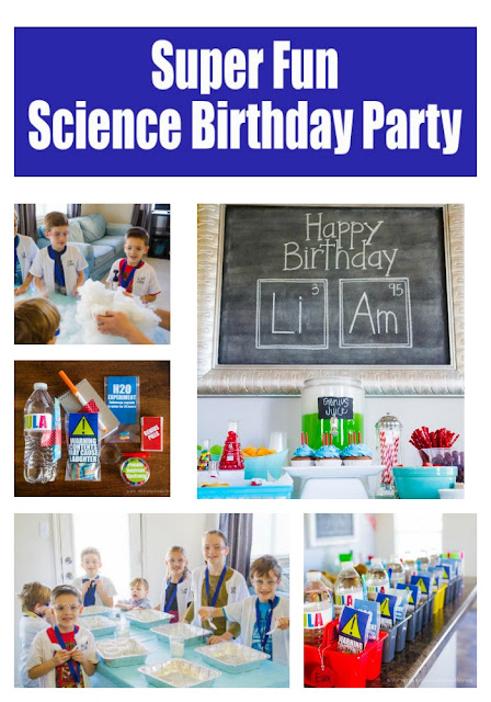 A fantastic idea for a birthday party theme!  Perfect for boys or that little science buff in your life!  mynameissnickerdoodle.com