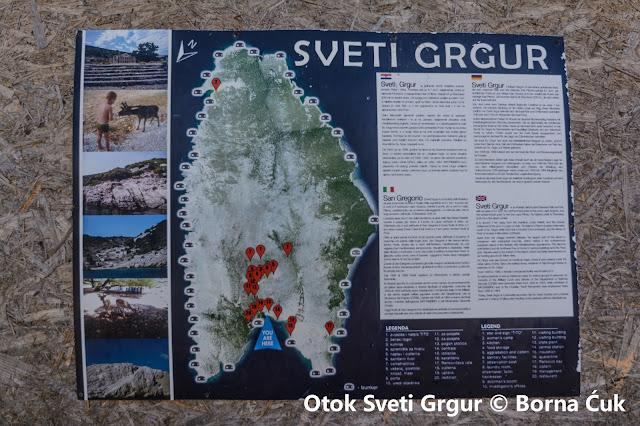 Sveti Grgur mapa otoka