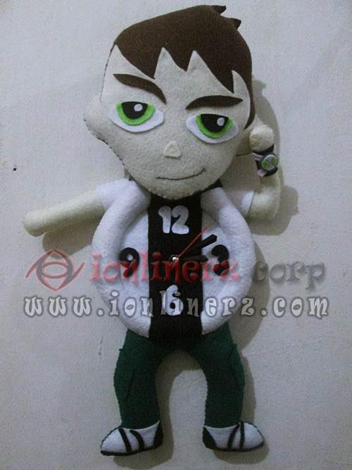 Jam Dinding Flanel Karakter Kartun Boneka Ben 10
