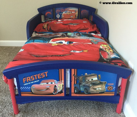 Delta Children Cars Plastic Toddler Bed