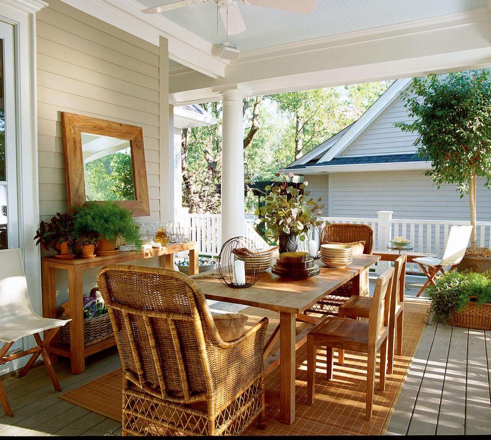 Veranda Design Tips And 70 Photos Of Decorating Ideas: Ideas Para Decorar La Terraza, El Porche O Patio
