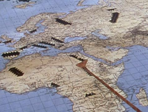 Mapa de las invasiones marcianas en La guerra de los mundos 1953 - Cine de Escritor