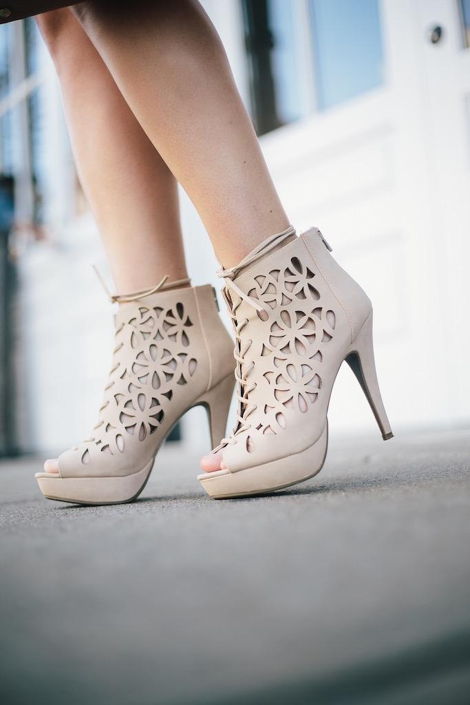 KBStyled: nude heels high heels nude sandals laser cut heels lace up heels
