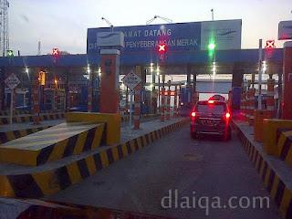 sampai di pelabuhan Merak, Banten