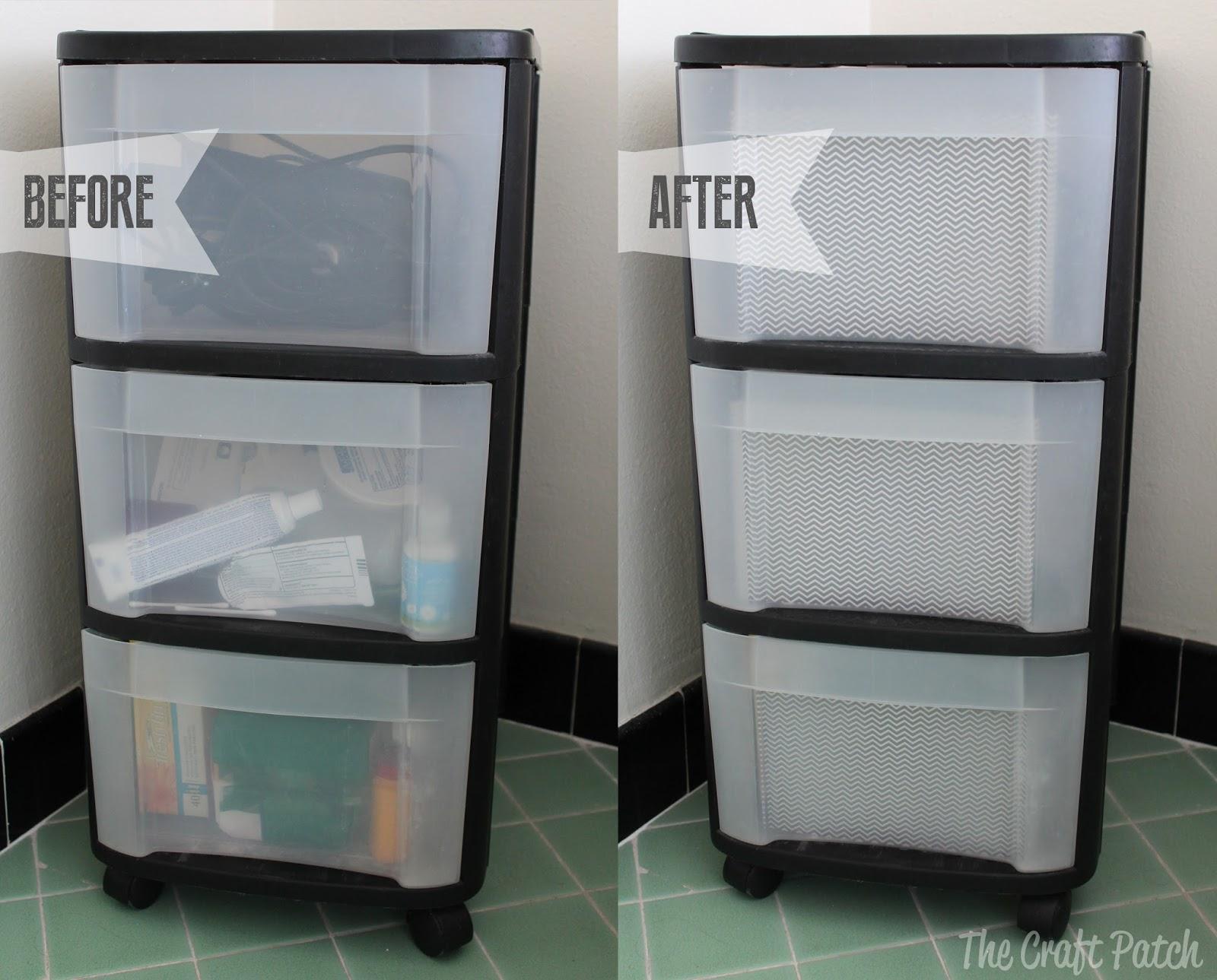Plastic Dresser Five Minute Makeover  thecraftpatchblogcom