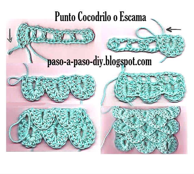 Cómo tejer Punto Cocodrilo o Escama al Crochet / DIY | Paso a Paso