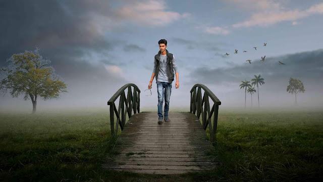 Alone Boy On Bridge Best Background Changing Tutorial
