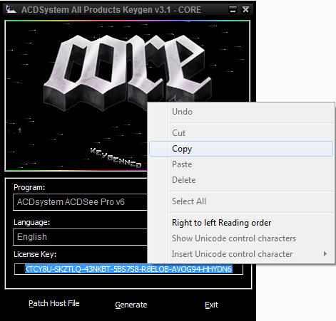 acdsee pro 6 license key