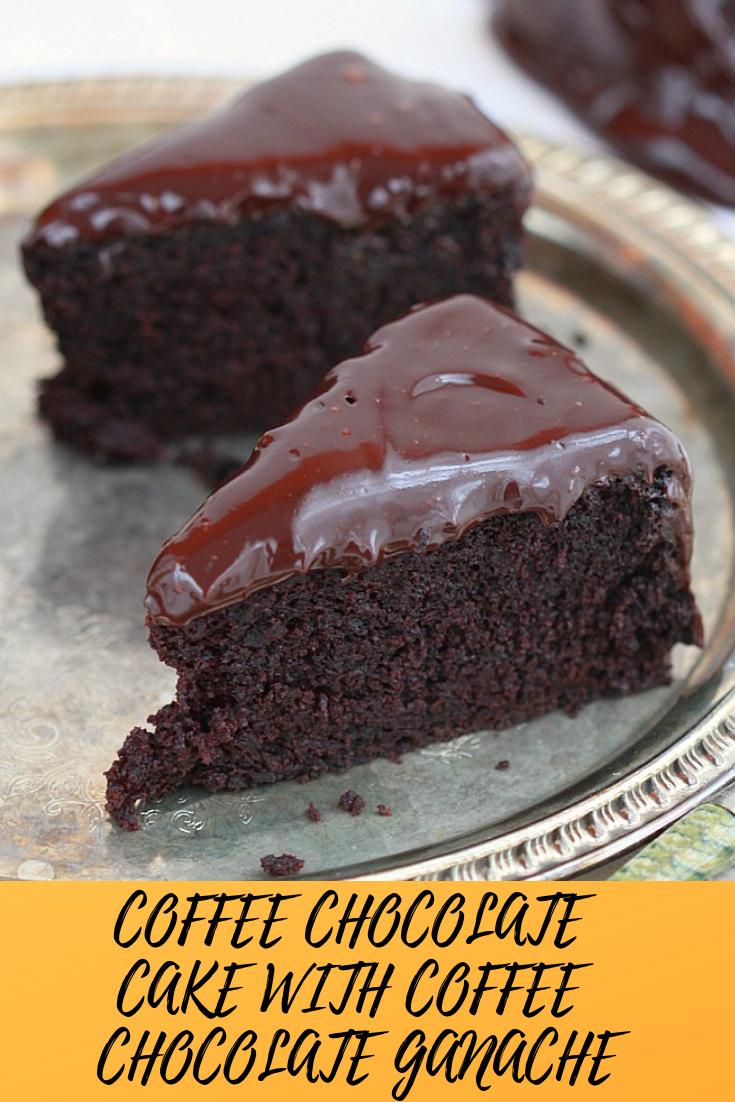 # COFFEE# CHOCOLATE#CAKE #WITH# COFFEE #CHOCOLATE #GANACHE