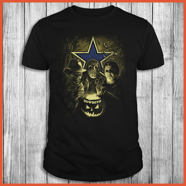 Dallas Cowboys Halloween Horror Movie Shirt