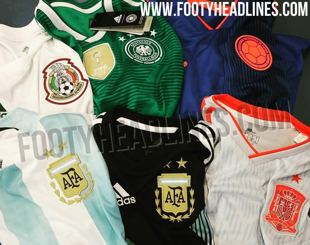 12cb72d1a All of Adidas  away jerseys for the 2018 World Cup have leaked over the  last few days