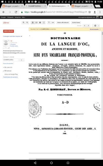Dictionnaire de la Langue d'Oc , Français - Provençal , ancienne et moderne