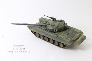 maquette du Char T-72  de Academy au 1/48