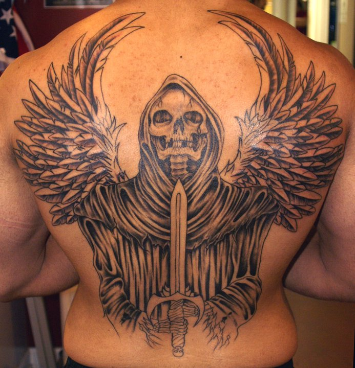 25 Cool Grim Reaper Tattoos Design
