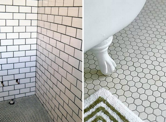 Wonderful Peonies + Brass: tile files: is dark grout here to stay? LI15