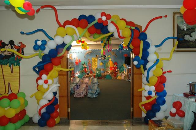 dekorasi balon gate gapura ulang tahun