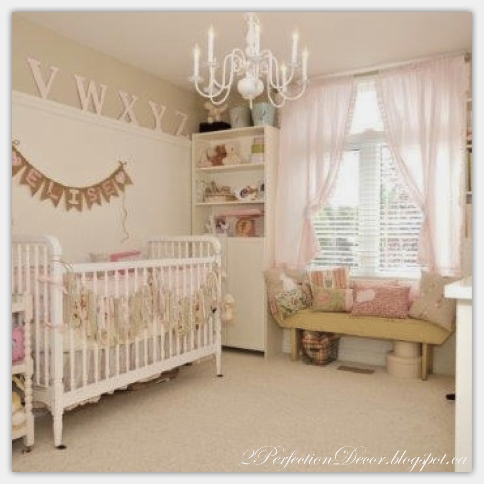 Natural Baby Nursery Design Reveal: 2Perfection Decor: Shabby Chic Nursery Reveal