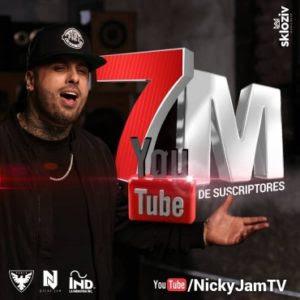 Nicky Jam Celebra 7 Millones De Suscriptores En Youtube