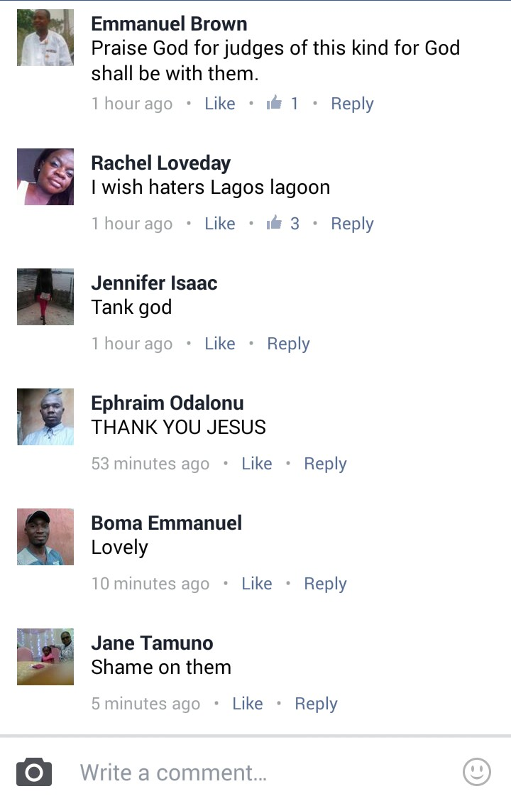 "Facebook comments - EFCC and Patience Jonathan: ""He Who Laugh Last, Laugh Best"" 1"