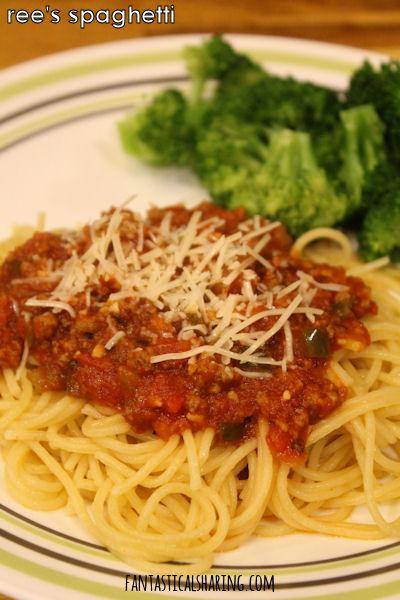 Ree's Spaghetti #recipe #maindish #tomato #spaghetti #pasta #wine