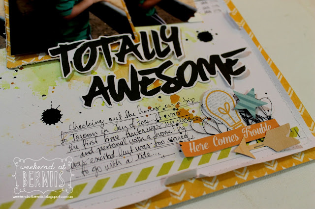 """Totally Awesome"" Layout by Bernii Miller using Cocoa Vanilla Studio - Totally Rad collection."