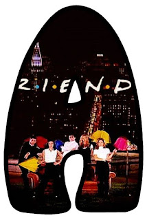 Friends Sitcom Letter. Abecedario de la Serie Friends.