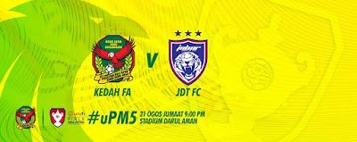 Live Streaming Kedah vs JDT Piala Malaysia 31 Ogos 2018