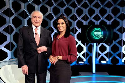 O Presidente e Débora (Crédito: Lourival Ribeiro/SBT)