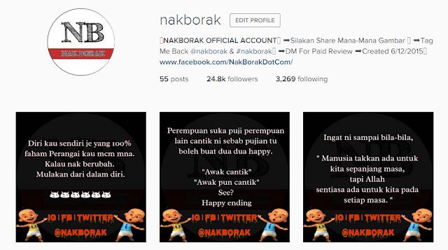 Review Instagram Yang Murah | @nakborak