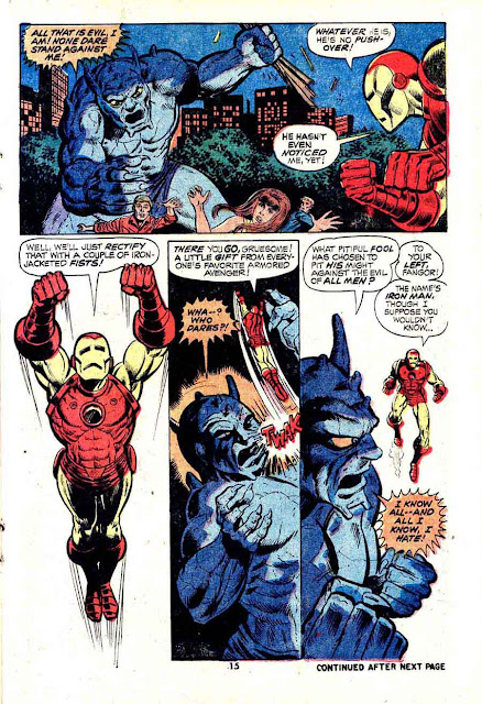Iron Man v1 #56 marvel comic book page art by Jim Starlin