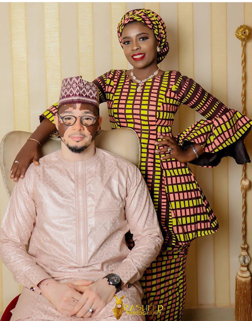 Beautiful photos from the wedding ceremony of Nigerian man who suffers from skin condition, vitiligo
