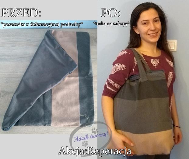 Akcja Reperacja u Adzika - eko torba DIY z recyklingu