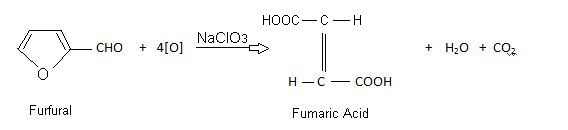 preparation of fumaric acid by oxidation of furfural with sodium chlorate.