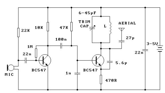Simple 300m FM Transmitter | Electronic Circuits Diagram