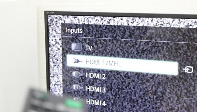 Chọn đúng ngõ vào HDMI